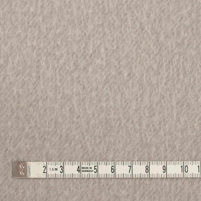 ウール&ポリエステル混×無地(グレイッシュベージュ)×かわり織_イタリア製 イメージ4