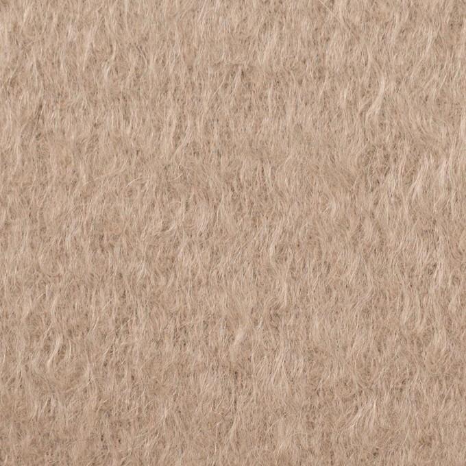 ウール&モヘア×無地(ロージーベージュ)×シャギー イメージ1