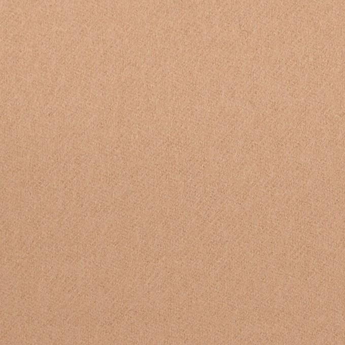 ウール×無地(ウォームベージュ)×フラノ(フランネル) イメージ1