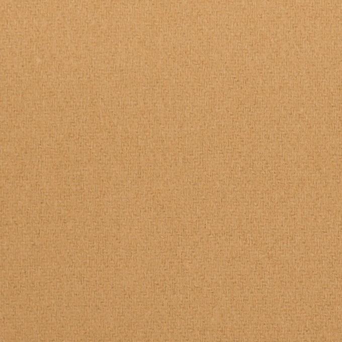 ウール&ナイロン×無地(キャメル)×フラノ(フランネル) イメージ1