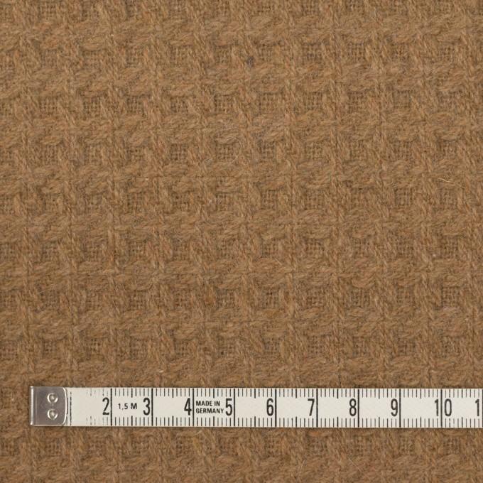 ウール&ポリエステル混×無地(シナモン)×かわり織 イメージ4