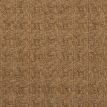 ウール&ポリエステル混×無地(シナモン)×かわり織