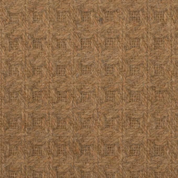 ウール&ポリエステル混×無地(シナモン)×かわり織 イメージ1