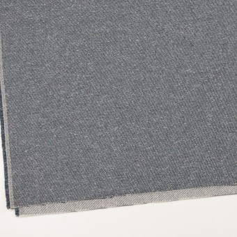 コットン&アクリル×無地(スチールグレー)×かわり織 サムネイル2