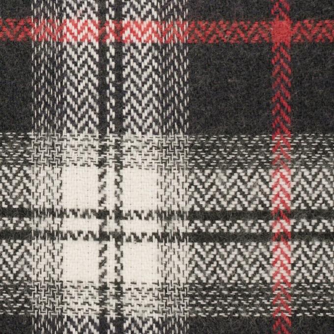 コットン×チェック(レッド&チャコール)×ヘリンボーン_全3色 イメージ1