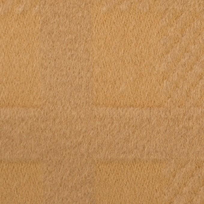 ウール&アンゴラ×チェック(キャメル)×ビーバージャガード_全2色 イメージ1