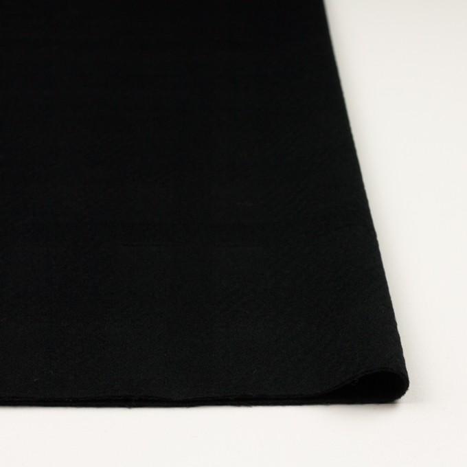 ウール&アンゴラ×チェック(ブラック)×ビーバージャガード_全2色 イメージ3