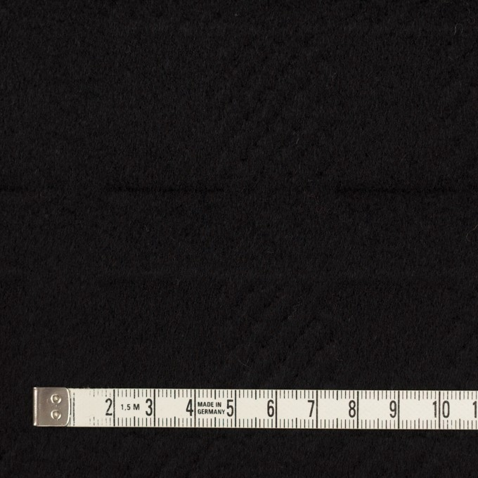 ウール&アンゴラ×チェック(ブラック)×ビーバージャガード_全2色 イメージ4