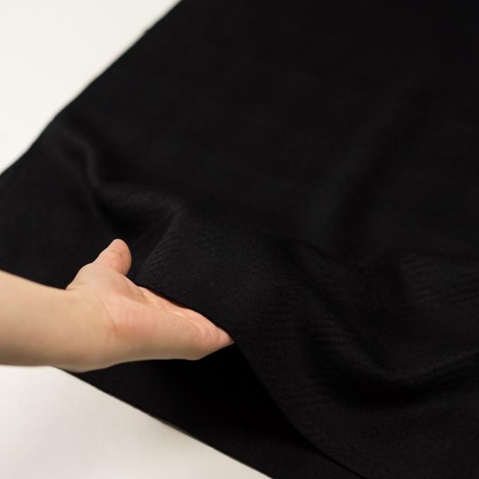 ウール&アンゴラ×チェック(ブラック)×ビーバージャガード_全2色 イメージ5