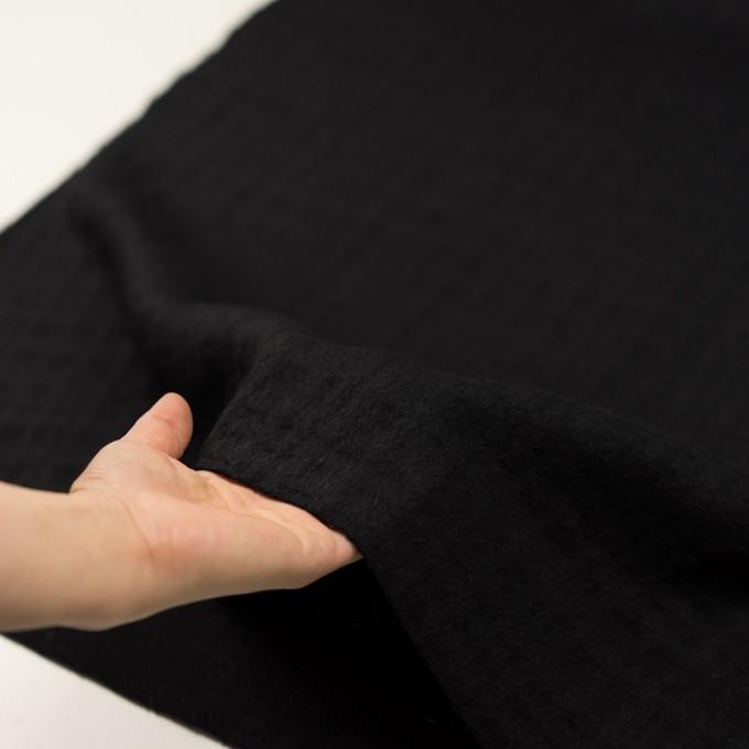 ウール×チェック(ブラック)×ビーバージャガード イメージ5