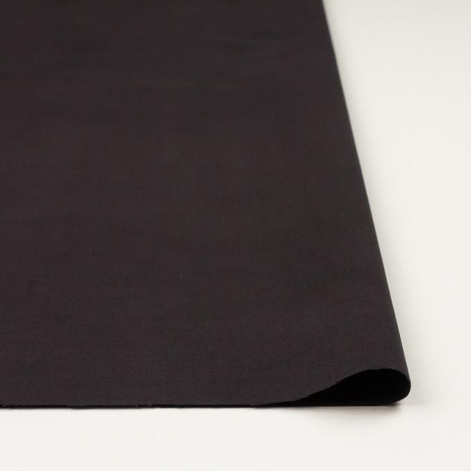 コットン&ポリウレタン×無地(ダークブラウン)×フランネル・ストレッチ イメージ3