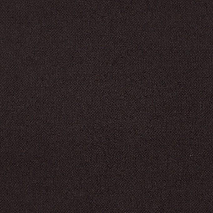 コットン&ポリウレタン×無地(ダークブラウン)×フランネル・ストレッチ イメージ1