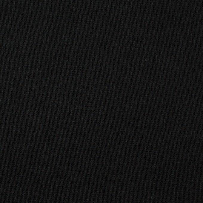 コットン×無地(ブラック)×裏毛ニット イメージ1