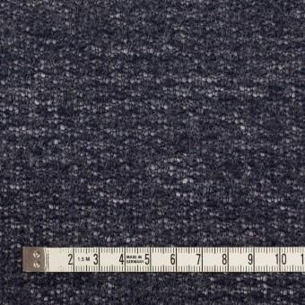 ウール&アクリル混×無地(グレープグレー)×メッシュニット サムネイル4