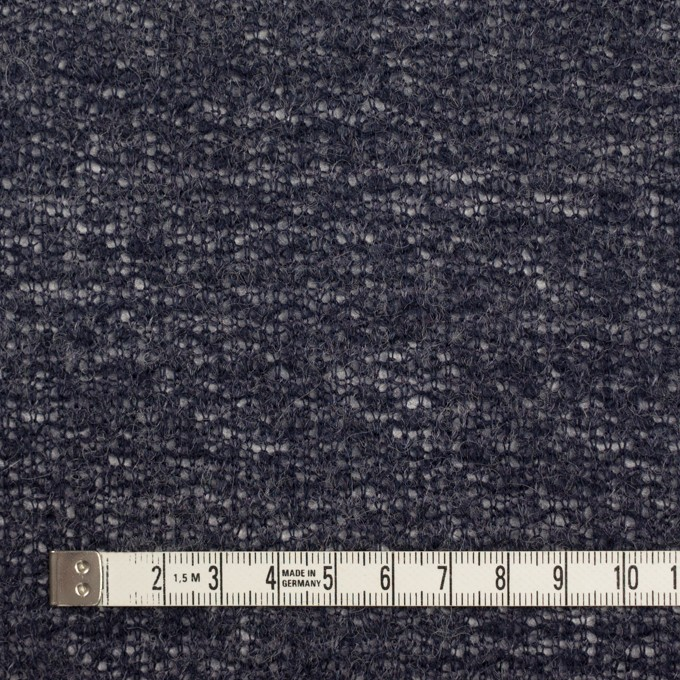 ウール&アクリル混×無地(グレープグレー)×メッシュニット イメージ4