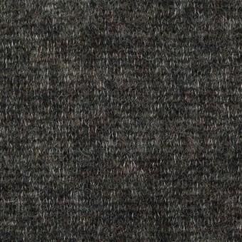 ウール&アクリル混×無地(チャコールグレー)×メッシュニット サムネイル1