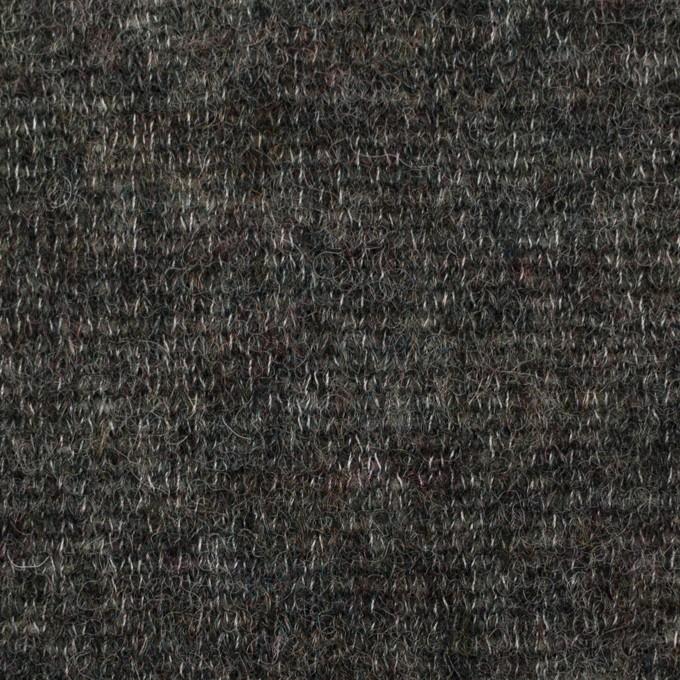 ウール&アクリル混×無地(チャコールグレー)×メッシュニット イメージ1