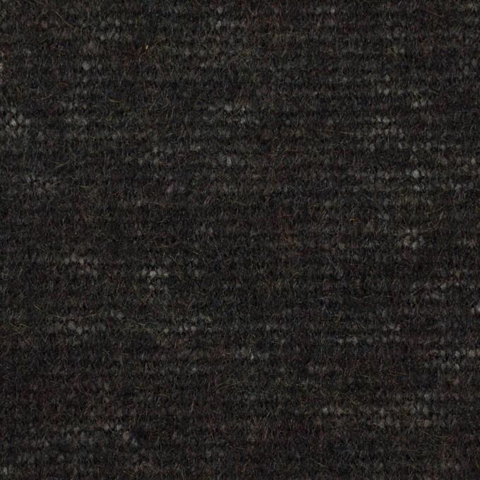 アクリル&ナイロン混×無地(チャコールブラック)×メッシュニット イメージ1