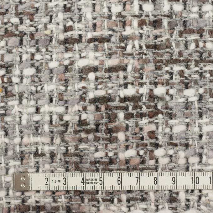 ウール&アクリル混×ミックス(グレー&ブラウン)×ファンシーツイード_イタリア製 イメージ4