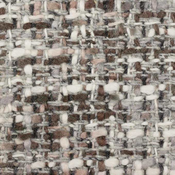 ウール&アクリル混×ミックス(グレー&ブラウン)×ファンシーツイード_イタリア製 イメージ1