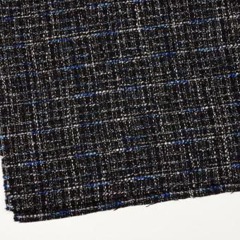 ポリエステル&ウール混×ミックス(シルバー、ブルー&ブラック)×ファンシーツイード サムネイル2