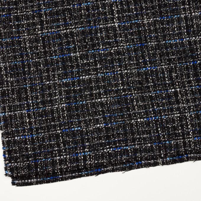 ポリエステル&ウール混×ミックス(シルバー、ブルー&ブラック)×ファンシーツイード イメージ2
