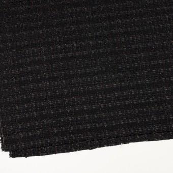 ポリエステル&ウール混×ミックス(ブラック)×ファンシーツイード サムネイル2