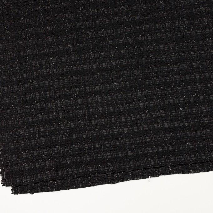 ポリエステル&ウール混×ミックス(ブラック)×ファンシーツイード イメージ2