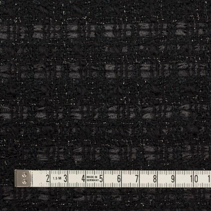ポリエステル&ウール混×ミックス(ブラック)×ファンシーツイード イメージ4