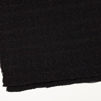 ウール&コットン×無地(ブラック)×ファンシーツイード サムネイル2