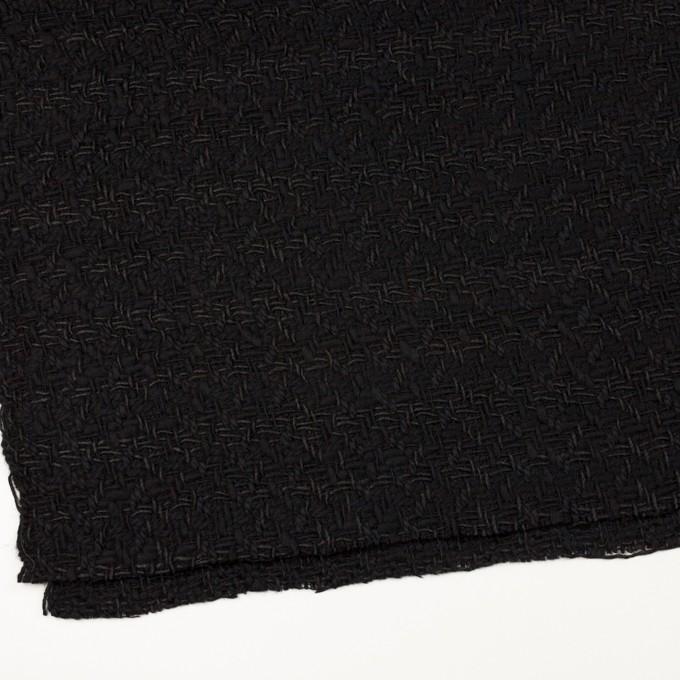 ウール&コットン×無地(ブラック)×ファンシーツイード イメージ2