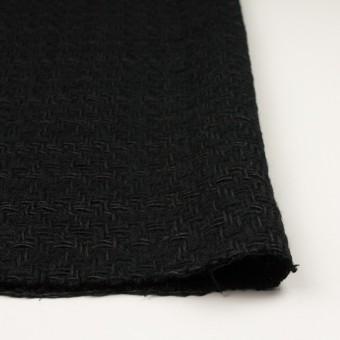 ウール&コットン×無地(ブラック)×ファンシーツイード サムネイル3