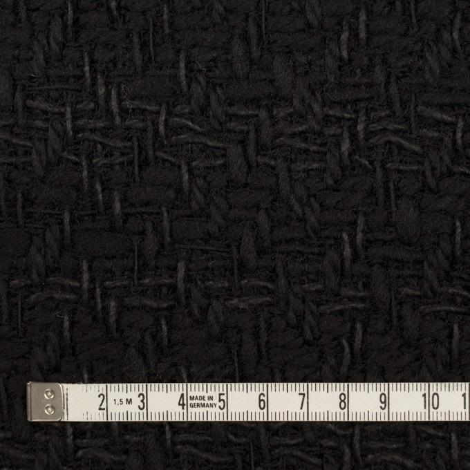 ウール&コットン×無地(ブラック)×ファンシーツイード イメージ4