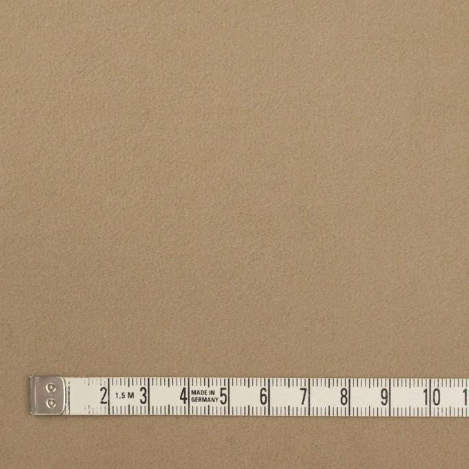 コットン×無地(カーキベージュ)×モールスキン_イタリア製 イメージ4