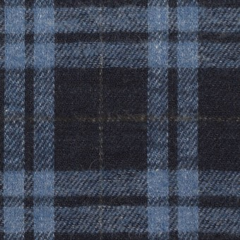 コットン×チェック(ブルーグレー&ダークネイビー)×ビエラ サムネイル1