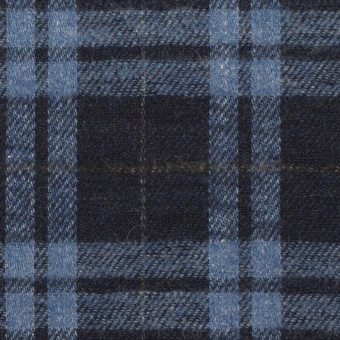 コットン×チェック(ブルーグレー&ダークネイビー)×ビエラ イメージ1