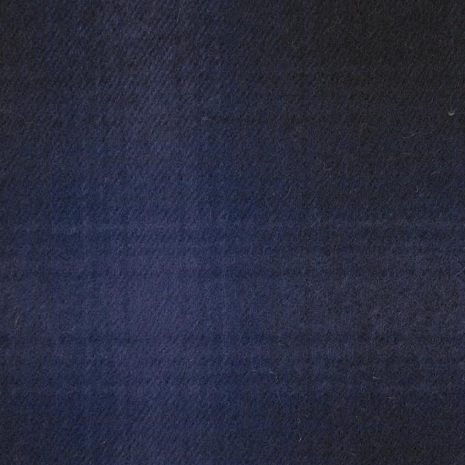 コットン×チェック(バイオレット&ダークネイビー)×フランネル イメージ1