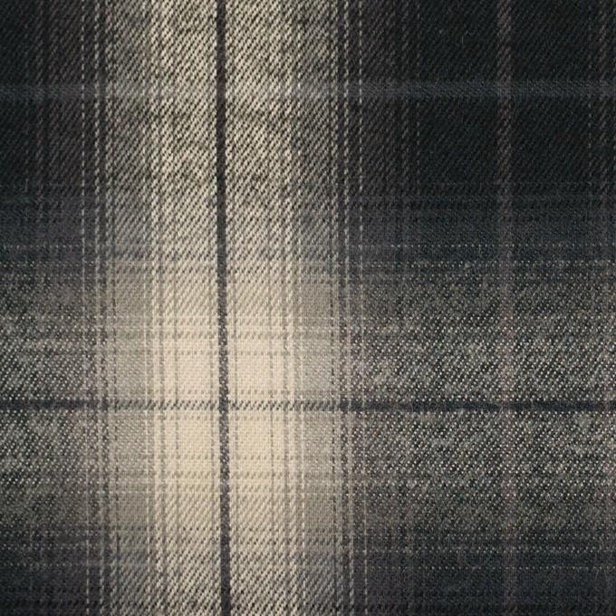 コットン×チェック(キナリ&チャコールブラック)×ビエラ イメージ1