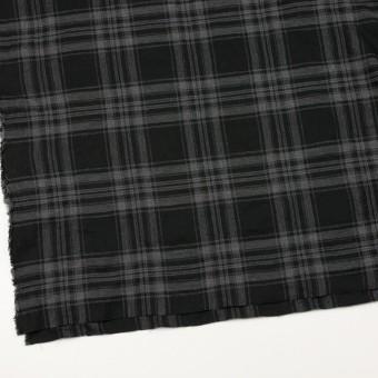 コットン&ポリウレタン×チェック(グレー&ブラック)×ビエラ サムネイル2