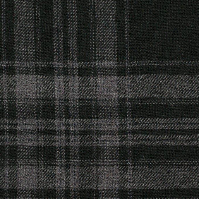 コットン&ポリウレタン×チェック(グレー&ブラック)×ビエラ イメージ1