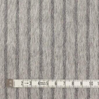 ウール×ストライプ(シルバーグレー)×シャギー サムネイル4