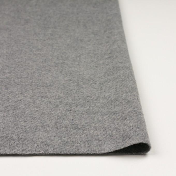 ウール&ナイロン×無地(グレー)×かわり織 イメージ3