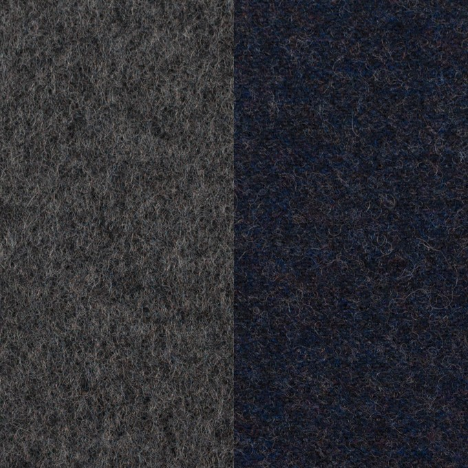 ウール×無地(チャコール&ネイビー)×Wツイード イメージ1