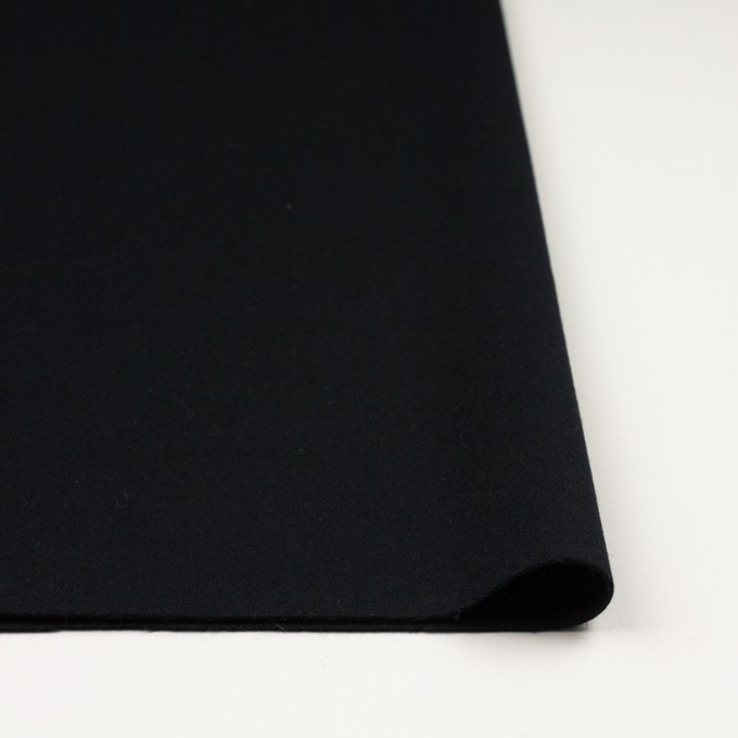 ウール×無地(ブルーブラック)×フラノ(フランネル) イメージ3