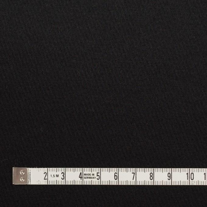ウール×無地(ブラック)×フラノ(フランネル) イメージ4