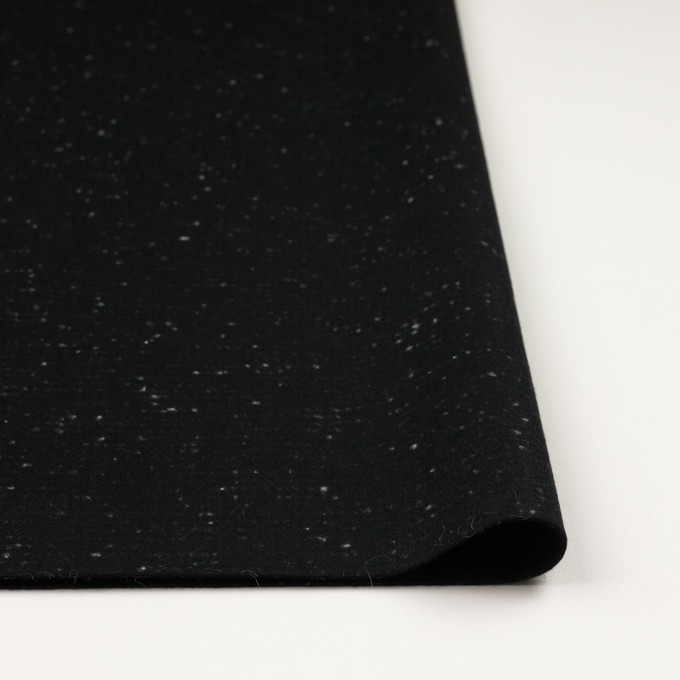 ウール×ミックス(ブラック)×フラノ(フランネル) イメージ3