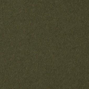 ウール×無地(カーキグリーン)×ビーバー サムネイル1