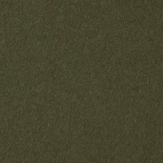 ウール×無地(カーキグリーン)×ビーバー イメージ1