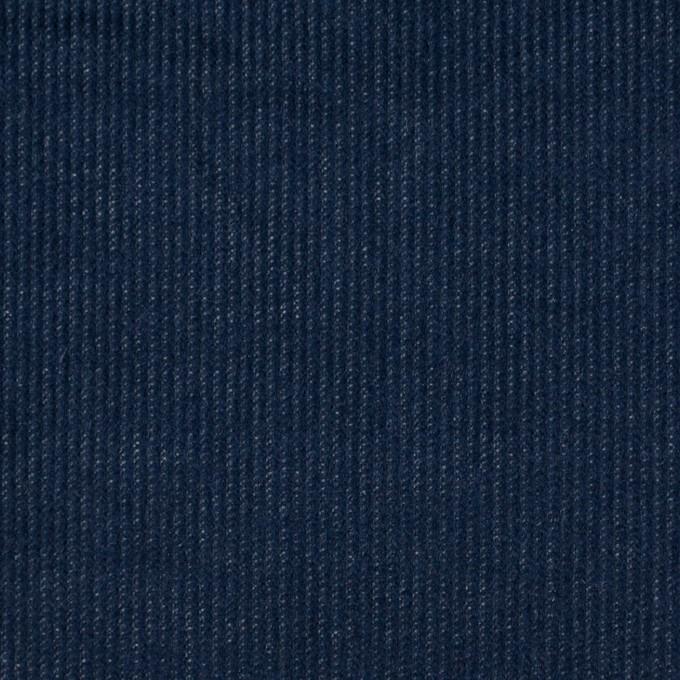 コットン&ポリウレタン×無地(ネイビー)×細コーデュロイ・ストレッチ イメージ1
