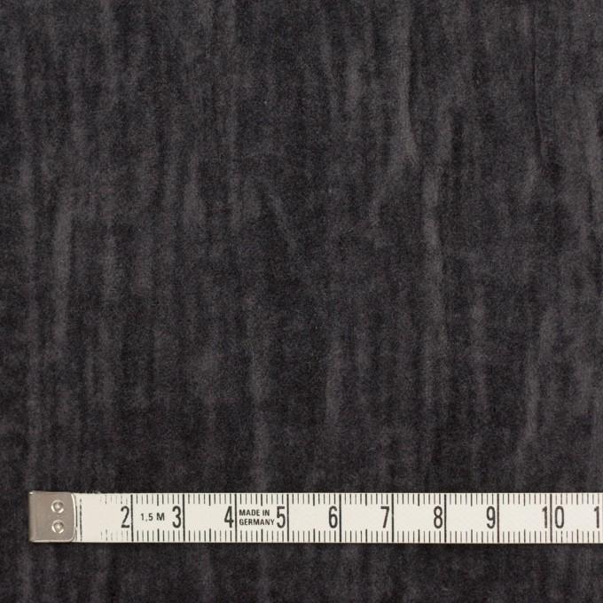 コットン&メタル×無地(チャコール)×ベッチンワッシャー_イタリア製 イメージ4